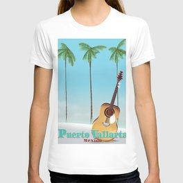Puerto Vallarta Mexico travel poster art. T-shirt