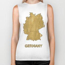Germany map outline Aztec Gold watercolor Biker Tank