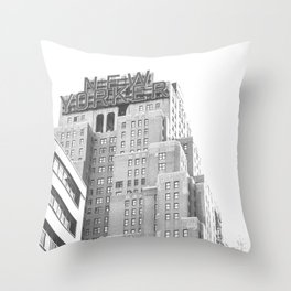 New Yorker Sign - NYC Black and White Throw Pillow