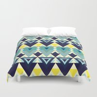 chic Duvet Covers featuring Geometric chic by Akwaflorell