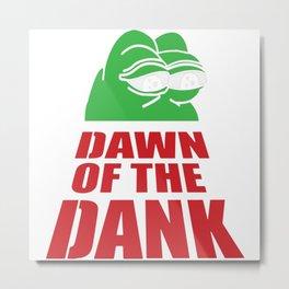 Pepe Dawn Of The Dank Metal Print
