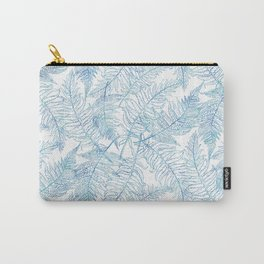 Fern Silhouette Blue Carry-All Pouch