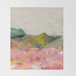 summer landscape Throw Blanket