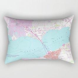 Punta Gorda & Port Charlotte Florida Map (1957) Rectangular Pillow