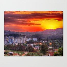 Sunset in São Lourenço Canvas Print