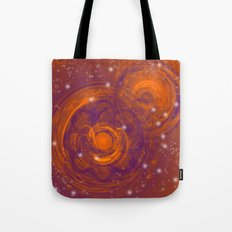 Birth of worlds in a fiery sky Tote Bag