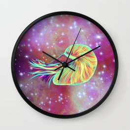 The Cosmic Space Nautilus Wall Clock