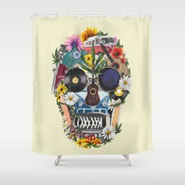 summer skull Shower Curtain