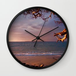 Sunset Beach Wall Clock