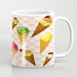 Ice cream hearts-Rosa Coffee Mug