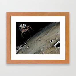 Go for landing Framed Art Print