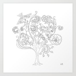 Blossoming tree Art Print