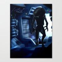 xenomorph Canvas Prints featuring Xenomorph by Lokason Illustration
