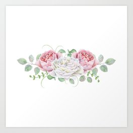 Peonies and Roses Art Print