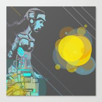 android Canvas Prints featuring Android by MozaicPieces