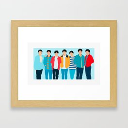 BTS BOYS Framed Art Print