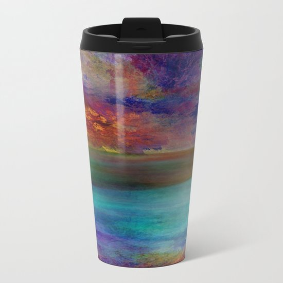 Ocean at Sunset Metal Travel Mug
