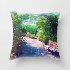 Rosy Bower Throw Pillow