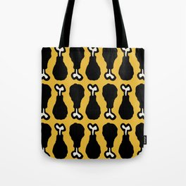 Drumstick Pattern Black and Yellow Tote Bag