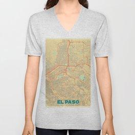 El Paso Map Retro Unisex V-Neck