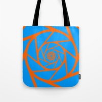 aperture Tote Bags featuring Aperture Vector by Alli Vanes