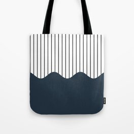 Wave and Lines (Annapolis Blue) Tote Bag