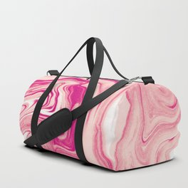 Pink Marble Texture Pattern Duffle Bag