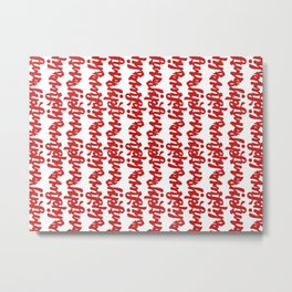 Scribbly Red Metal Print