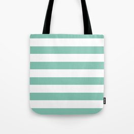 Lucite green stripes Tote Bag