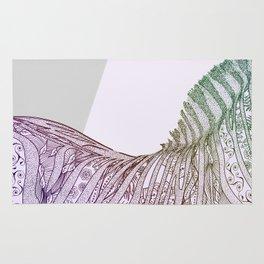 Colorful Boho Mandala Zebra Design Rug