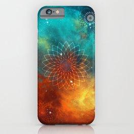 Lotus Flower on Nebula iPhone Case