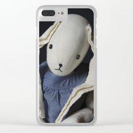 Sad Rabbit Clear iPhone Case