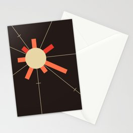 paper sun    charcoal Stationery Cards