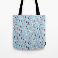 mermaids Tote Bags featuring Mermaids by Sara Maese