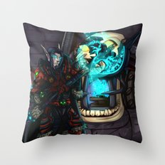 At the Forge Throw Pillow