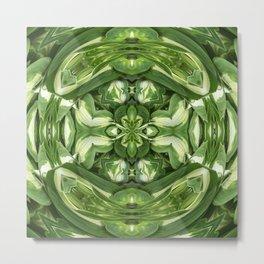294 - Hosta Abstract Design Metal Print