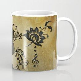 Wonderful violoin with elegant floral elements Coffee Mug