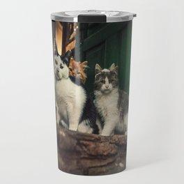 Family of Cats Travel Mug
