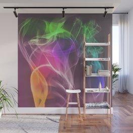 Multi-colored smoke Wall Mural