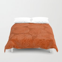 Tribal Terracota Rounds Duvet Cover