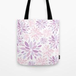 Nature's Healing Mandala Pastel Pink Tote Bag