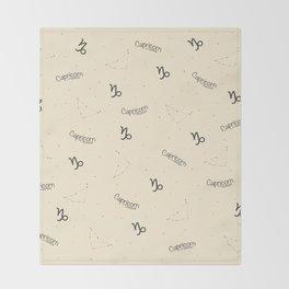 Capricorn Pattern - Beige Throw Blanket