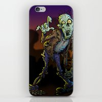 zombie iPhone & iPod Skins featuring ZOMBIE! by Billy Allison