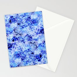 Alien Water - Abstract, crazy, textured, blue design Stationery Cards