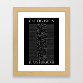 Cat Division Serif Framed Art Print