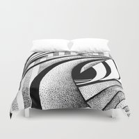 gravity Duvet Covers featuring GRAVITY by Fen_A