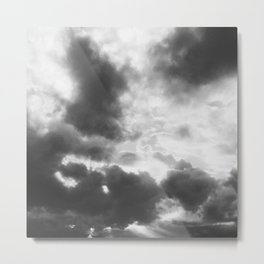 Cloud formation black and white Metal Print