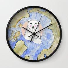 Polar Bear Portrait Wall Clock