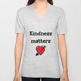 Kindness Teacher Gift Unisex V-Neck