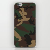 camo iPhone & iPod Skins featuring Camo by TheSmallCollective